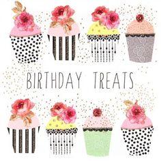 Birthday card - 'Yummy Cupcakes'