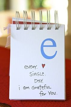 Alphabet book of what you mean to me. Cute idea as a gift to the groom.