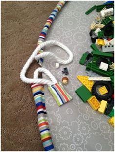 drawstring Lego play mat tutorial!                                                                                                                                                                                 More