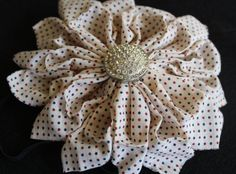 Beautiful flower headband with diamond for girls by FancyBeauty