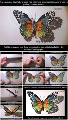 How to Make a Quilled Butterfly
