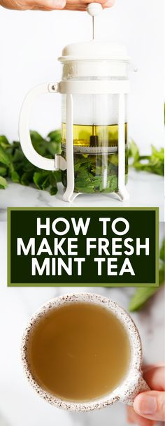 How to Make Fresh Mint Tea - Lexi's Clean Kitchen We're sharing all the tips for How to Make Fresh Mint Tea with real mint leaves. Spoiler: you need only two ingredients, and one of them is water! Mint Recipes, Detox Recipes, Tea Recipes, Recipes With Fresh Mint, Detox Foods, Fresh Mint Tea, Fresh Mint Leaves, Benefits Of Mint Leaves, Mint Leaves Recipe