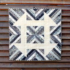 Churndash Court Quilt Pattern for sale - love the black and white