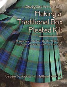 Making a traditional box pleated kilt