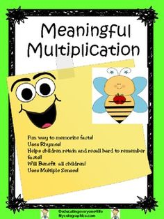 Multiplication Rhymes and Chants ~ Improve Student Fact Re