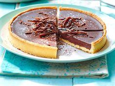 Découvrez la recette Tarte au chocolat tendre sur cuisineactuelle.fr.