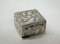 Silver Scandinavian pill box, early 20th century