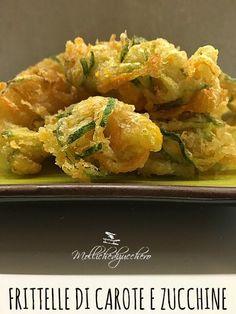 Le frittelle di carote e zucchine sono un fingerfood tremendamente saporito: croccanti spaghetti di carote e zucchine avvolti da una pastella leggera