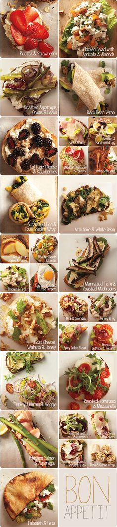 Our Favorite Sandwiches http://www.wholeliving.com/136433/super-sandwich-combinations/@center/183822/healthy-lunches?lpgStart=1&http://www_wholeliving_com/136433/super-sandwich-combinations?lpgStart=1&currentslide=1&currentChapter=1#92449