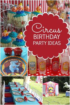 boy's circus themed birthday party ideas www.spaceshipsandlaserbeams.com