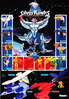 """This poster for Kenner's ill-fated """"SilverHawks"""" toy line is a must-see or must-have for anyone who's a fan of the cartoon."""