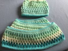 Crochet Hat and Infinity ScarlCowl In Shades of by susanstreasures