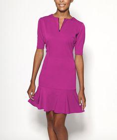 Another great find on #zulily! Berry Allen Notch Neck Dress by emploi New York #zulilyfinds