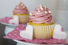 Post image for Lemon Chiffon Cupcakes with Raspberry Butter Cream