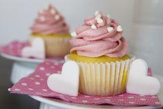 Lemon Chiffon Cupcakes with Raspberry Butter Cream