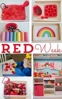 Red Week from Happy Organized Life Preschool Colors, Teaching Colors, Preschool At Home, Preschool Themes, Preschool Lessons, Preschool Classroom, Preschool Learning, Toddler Preschool, Toddler Activities