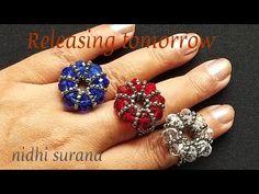 Tutorial Anillo, Ring Tutorial, Diy Beaded Rings, Beaded Jewelry, Wire Jewelry, Handmade Rings, Handmade Jewelry, Wire Wrapped Rings, Diy Schmuck