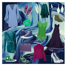 """Cold colors"" by aleeec95 ❤ liked on Polyvore featuring Milly, Converse, Miu Miu, Victoria Beckham, Oscar de la Renta, Salvatore Ferragamo, Keds, Aerosoles, Attico and Rina Limor"