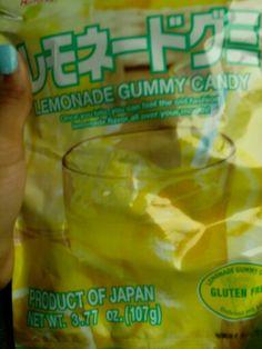 Japanese gummy candy lemonade flavor soooo good