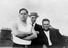 L to R - Joe Cruz, Unknown, Joe Bosch. Taken in Bayonne or Jersey City, NJ in the mid 20's