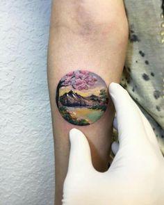 "artmania-feed: "" Stunning Dreamlike Circular Tattoos by Eva Krbdk Istanbul-based artist Eva Krbdk composes beautiful miniature tattoos with a spellbinding and magical quality. Keep reading "" Mini Tattoos, Circle Tattoos, Body Art Tattoos, Small Tattoos, Tatoos, Piercing Tattoo, Detailliertes Tattoo, Creative Tattoos, Great Tattoos"