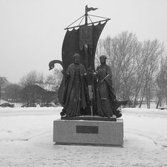 The monument to the Holy Righteous Prince Peter and Princess Febronia Murom
