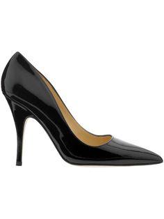 Late spade black heels