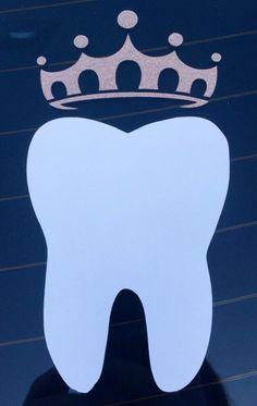 Back Country Camo Crown & Tooth Car Decal by Dental Assistant Car Decal, Dentist Car Deca Dental Assistant Study, Dental Hygiene Student, Dental Humor, Dental Hygienist, Medical Students, Nursing Students, Dental Surgery, Dental Implants, Nclex