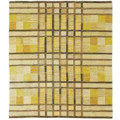 1stdibs | Beautiful Swedish Geometric Flatweave Rug 1950's