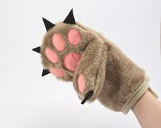 Oven Mitt  Bear Paw Kitchen Glove by KinaCeramicDesign on Etsy, $22.99