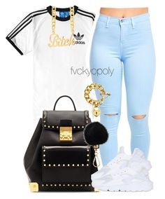"""""""Untitled #368"""" by fvckyopoly ❤ liked on Polyvore featuring adidas, MCM, NIKE…"""