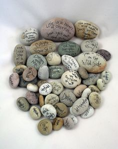 words on rocks. what's not to love?