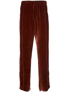OUR LEGACY OUR LEGACY STRIPE DETAIL TRACK PANTS - RED. #ourlegacy #cloth Our Legacy, Mens Sweatpants, Red Silk, Matching Shirts, Track, Women Wear, Mens Fashion, Detail, How To Wear