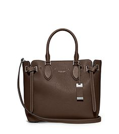 Rogers Medium Leather Satchel by Michael Kors