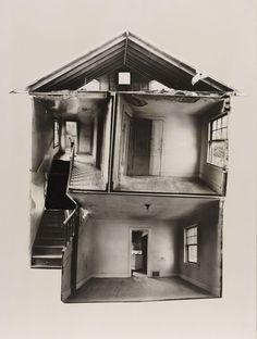 Gordon Matta-Clark Splitting 1974 Black and white photo collage x cm Anne Clark, Gordon Matta Clark, Image Deco, New York Art, Grafik Design, Conceptual Art, Art Plastique, Installation Art, Home Art