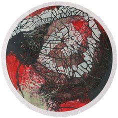 Round Beach Towel by Agota Horvath. The beach towel is in diameter and made from polyester fabric.