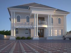 5 bedroom bungalow plans in nigeria house plans 5 bedroom duplex 5 bedroom bungalow design in nigeria Plan Duplex, Duplex House Plans, Bungalow House Plans, Modern House Plans, 5 Bedroom House Plans, Bungalow Haus Design, Duplex House Design, House Structure Design, House Elevation