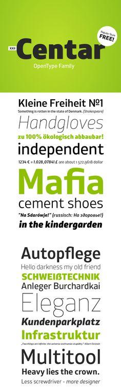 Web design freebies, XXII Centar Sans - Free Font