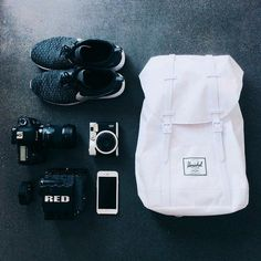Herschel supply: well packed for daily adventures. randomi h Herschel Supply Co, Herschel Backpack, Travel Backpack, Backpack Bags, Travel Bags, White Backpack, What In My Bag, Diaper Bag, Athletic Wear