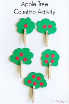 Tree Counting Activity with Clothespins Apple theme counting activity for preschoolers. A fine motor apple tree activity for learning numbers.Apple theme counting activity for preschoolers. A fine motor apple tree activity for learning numbers. Counting Activities For Preschoolers, Preschool Lessons, Autumn Activities, Preschool Learning, Learning Activities, Montessori Preschool, Montessori Elementary, Apple Crafts For Preschoolers, Visual Motor Activities