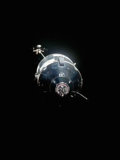 TODAY IN HISTORY: In the blackness of space, the Apollo 16 command/service module is photographed from the undocked lunar module, April 20, 1972.