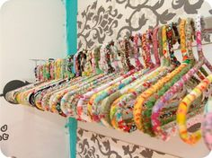 DIY fabric covered hangers....great for leftover fabric scraps!!!