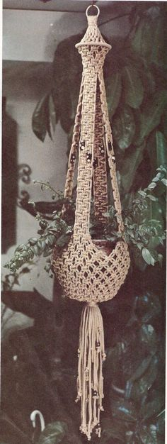 PLEASE NOTE: ALL OF MY PATTERNS ARE IN ENGLISH ONLY This listing is for a macramé pattern for a flower pot hanger. I have scanned these patterns into a pdf file .Once this item is paid for, you can download the pattern. . Over the years I have collected a large number of vintage