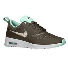 official photos e3dc8 fc2e8 Over Half Off Swarovski Crystal Nike Air Max Thea Bling Womens Running Shoes  Light Ash Gray