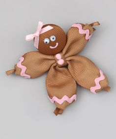 Take a look at this Brown Gingerbread Girl Pin by Picture Perfect Hair Bows on #zulily today!