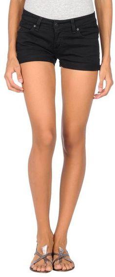 $24, Black Denim Shorts: Carhartt Denim Shorts. Sold by yoox.com. Click for more info: https://lookastic.com/women/shop_items/10299/redirect