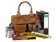 a72a0a0f28b86 Greenburry EXPEDITION Leder - Damen Businesstasche Aktentasche Lehrertasche  - cognacbraun 564-24
