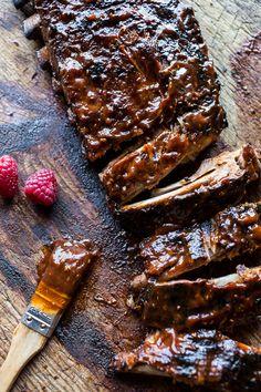Crockpot Grilled Fiery Habanero Apricot BBQ Ribs | halfbakedharvest.com @hbharvest