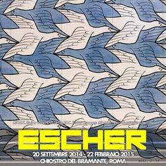 L'opera di #ESCHER è tutt'oggi considerata tra le più influenti nell'ambito del design moderno e dell'animazione - #Mostre #Roma