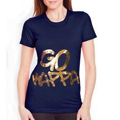 "Sorority Rush / Recruitment Shirts ""go kappa"" Design. Available for all organizations! $8.90 ea. #sorority #rush #recruitment"